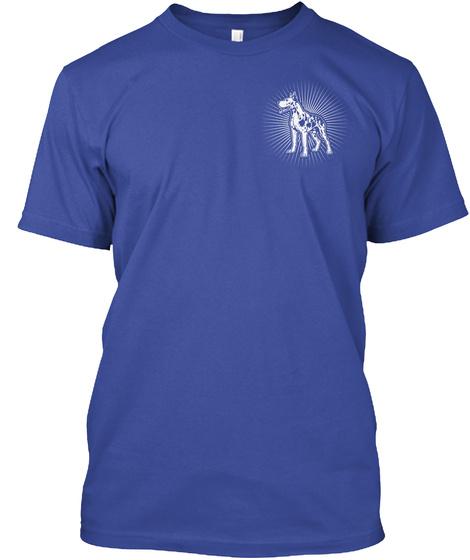 Great Dane! Guardian Angel! Deep Royal T-Shirt Front