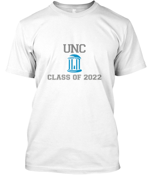 Unc Class Of 2022 White T-Shirt Front