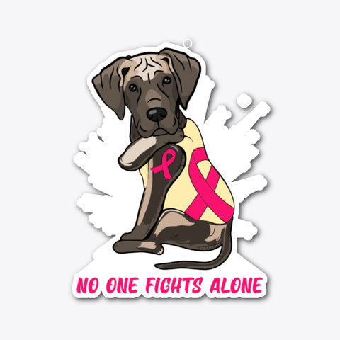 Breast Cancer Great Dane Standard T-Shirt Front
