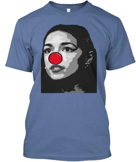 Oba Shirts Denim Blue T-Shirt Front