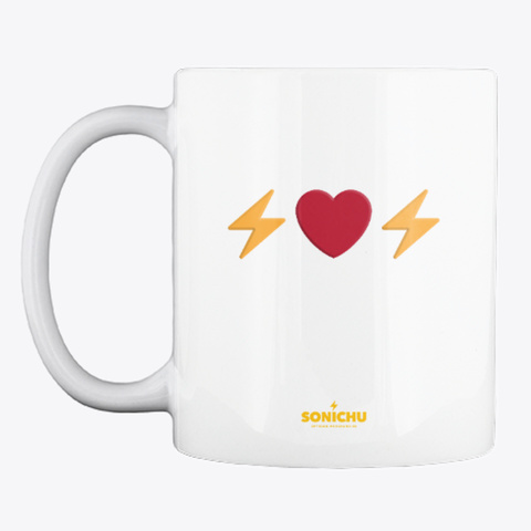 Sonichu Zap It Up Mug White T-Shirt Front