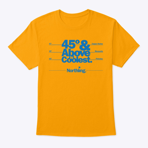 Northling™ 45th Parallel Michigan Gold T-Shirt Front