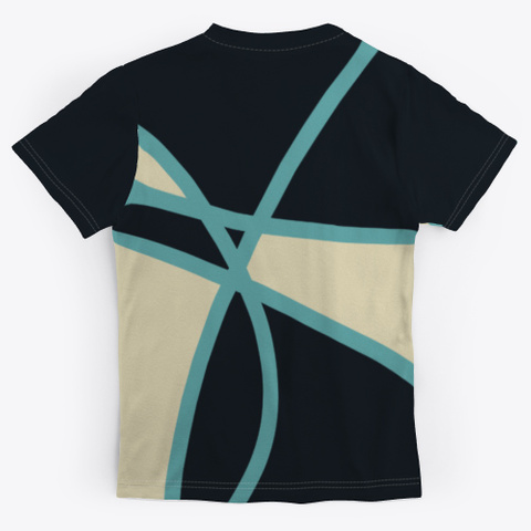 Abstract Multicolor Pattern Standard T-Shirt Back