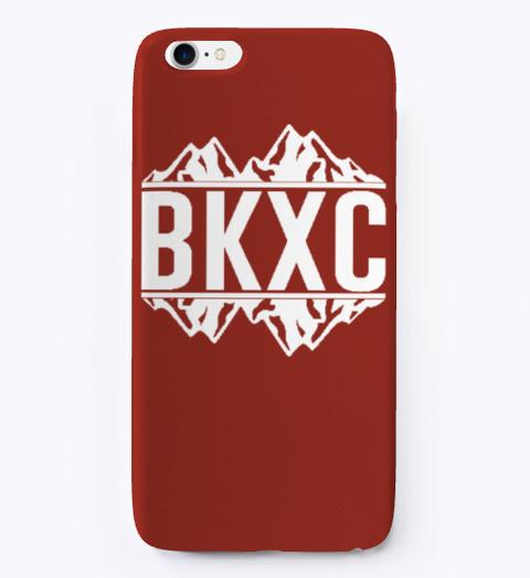 Bkxc Logo Case   Old School Dark Red T-Shirt Front