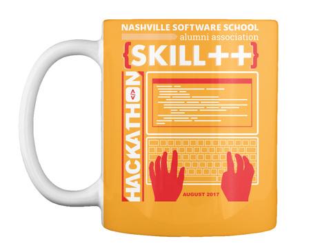 Nashville Software School Alumni Association Skill ++ Hackathon August 2017 Athletic Gold Mug Front