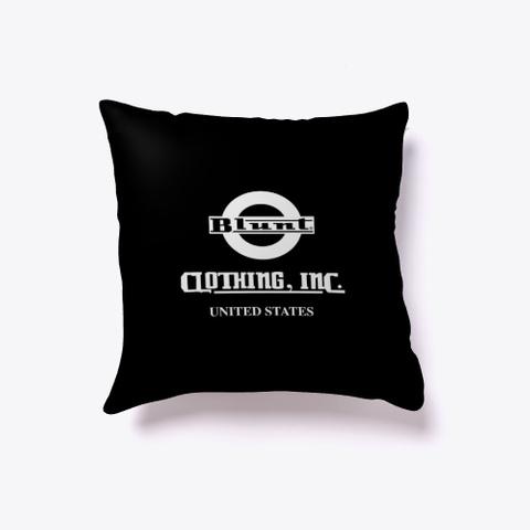 Blunt Vibe  Reversible Pillow Black T-Shirt Back