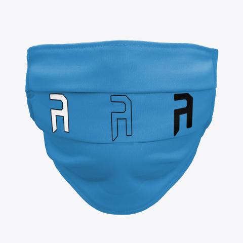 Face Mask Denim Blue T-Shirt Front
