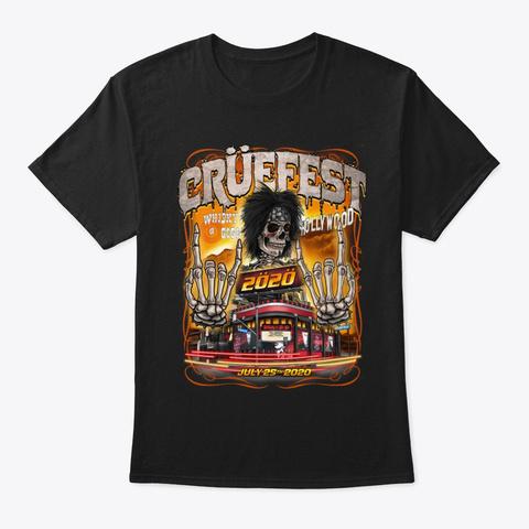 Cruefest Hollywood 2020 Black T-Shirt Front