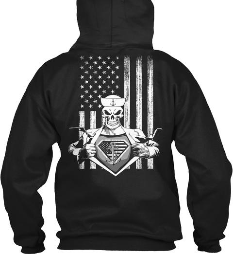 Exclusive Ltd   Super Sailor Black T-Shirt Back