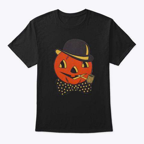 Vintage Jack O Lantern  Black T-Shirt Front