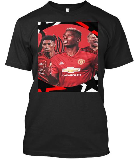 Pogba/Rashford/Shaw Special Edition Black T-Shirt Front