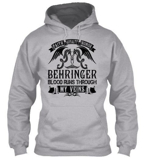 Behringer   My Veins Name Shirts Sport Grey T-Shirt Front