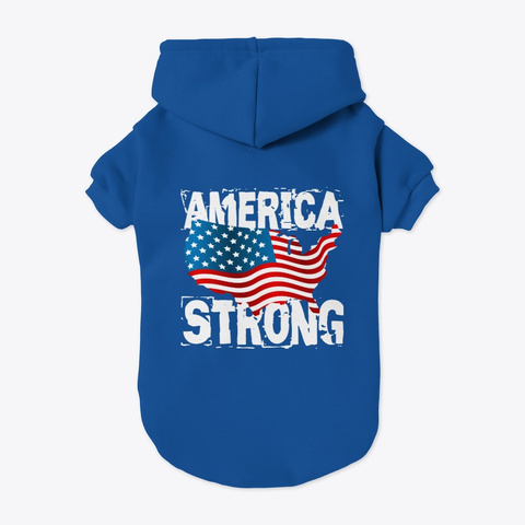 America Strong Collection Blue T-Shirt Back