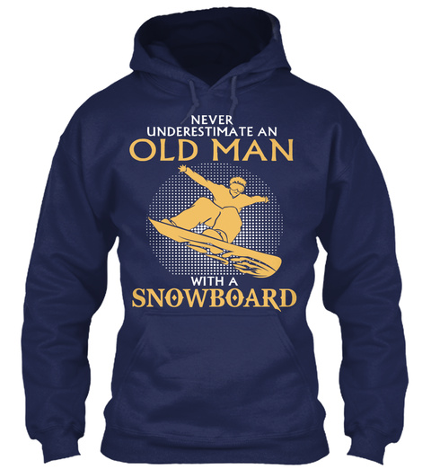 Snowboarding Old Man Funny Gifts