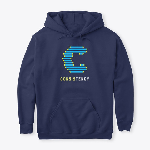 Consistency Navy T-Shirt Front