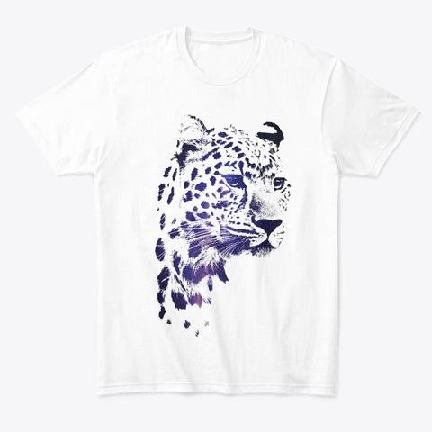 Space In Jaguar White T-Shirt Front