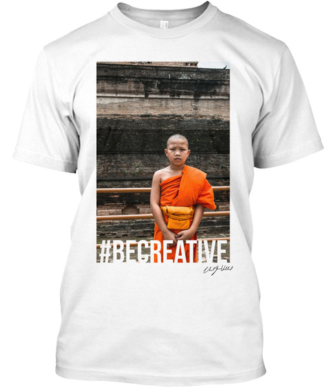 """Celebration"" Series... #Becreative White T-Shirt Front"