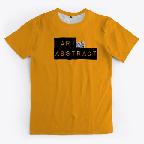 Art Abstract Collection Orange T-Shirt Front