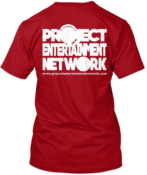 Project Entertainment Network Www.Project Entertainment Network. Com Deep Red T-Shirt Back