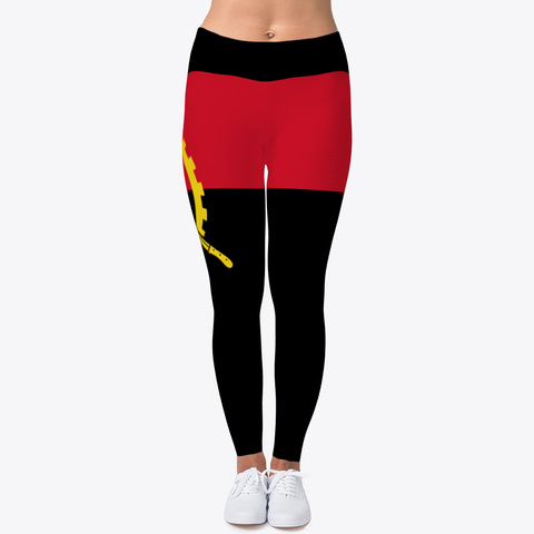 Angola Flag Leggings Standard T-Shirt Front