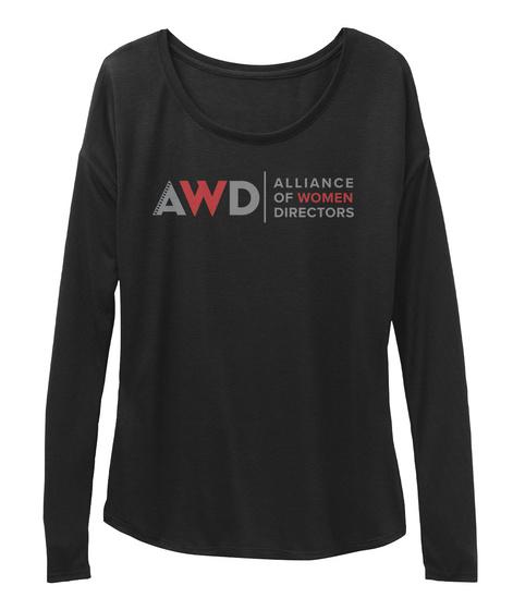 Alliance Of Women Directors Black T-Shirt Front