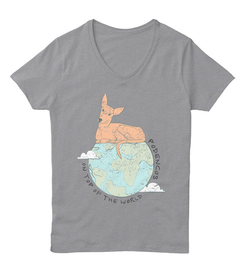 On Top Of The World  Podencos Light Steel T-Shirt Front