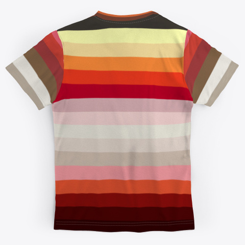Classy Colorful Art Stripes Standard T-Shirt Back