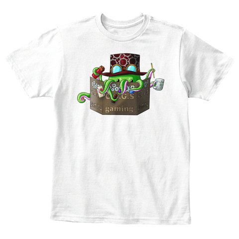 C.O.G.S. Gaming Kids Gm Cogthulu White T-Shirt Front