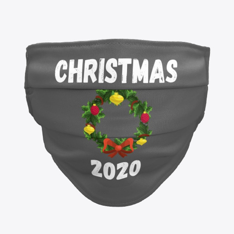 Christmas Holiday Season Wreath 2020 Charcoal T-Shirt Front