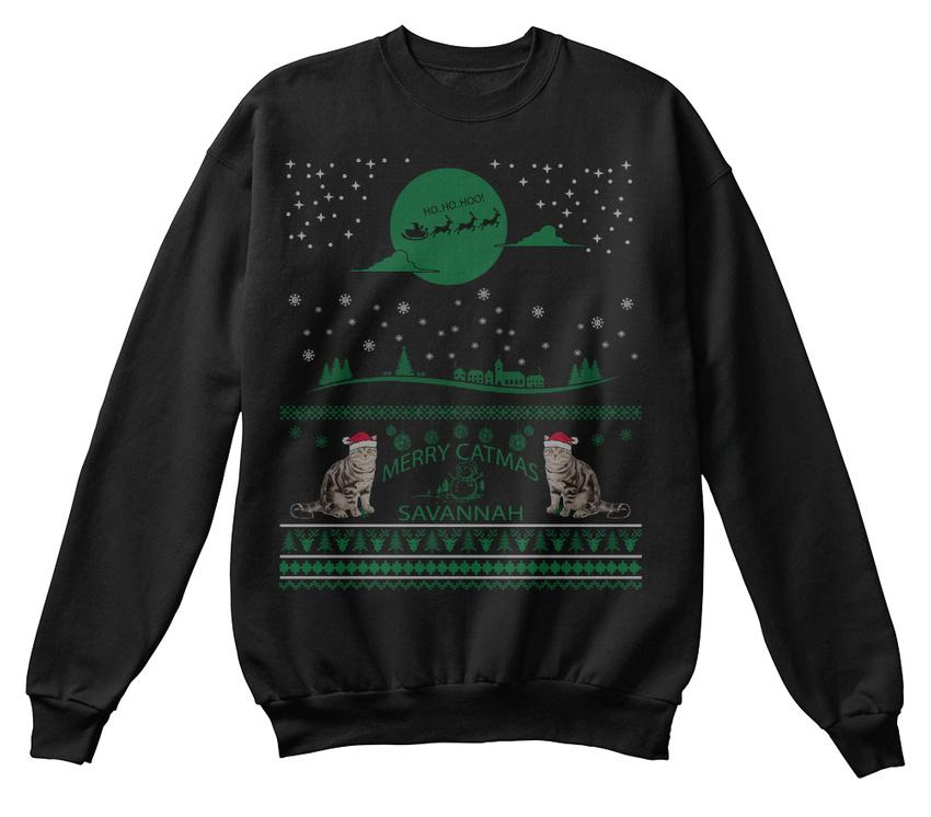 moche à Noël pull unique confortable chat Sweat poil shirt de BwqpExTP