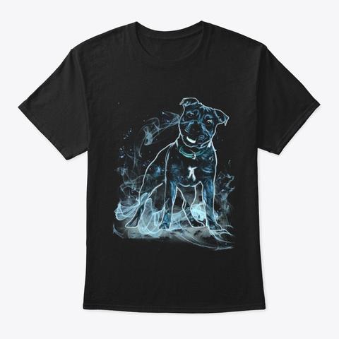 Staffordshire Bull Terrier M Gic Black T-Shirt Front