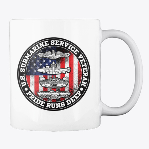 Submarine Service Pride Mug White T-Shirt Back
