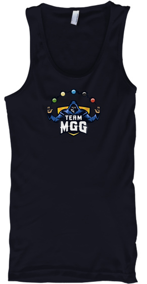 Team Mgg Navy Tank Top Front