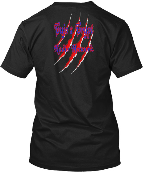 Cujo's Crypt  Radio Network Black T-Shirt Back