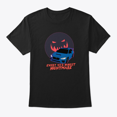 Turbo Subie The Nightmare Black T-Shirt Front