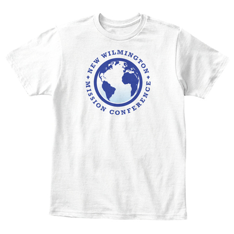 New Wilmington Mission Conference Kids White T-Shirt Front