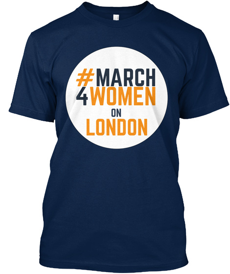 #March 4 Women On London Navy T-Shirt Front