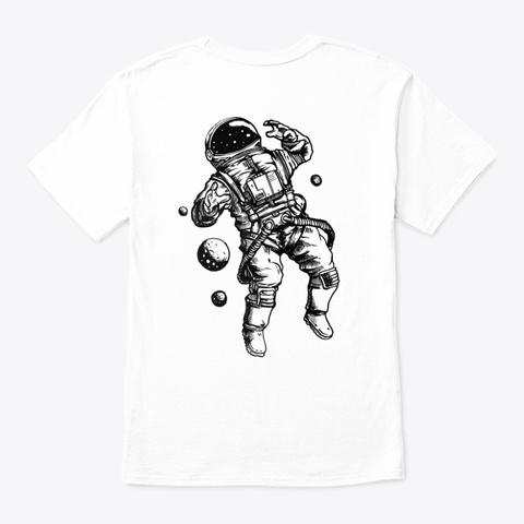 Galaxy Time White T-Shirt Back