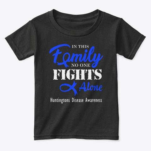 Family Fight Huntingtons Disease T Shirt Black T-Shirt Front