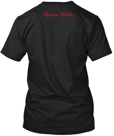 Rosster Battle Black T-Shirt Back