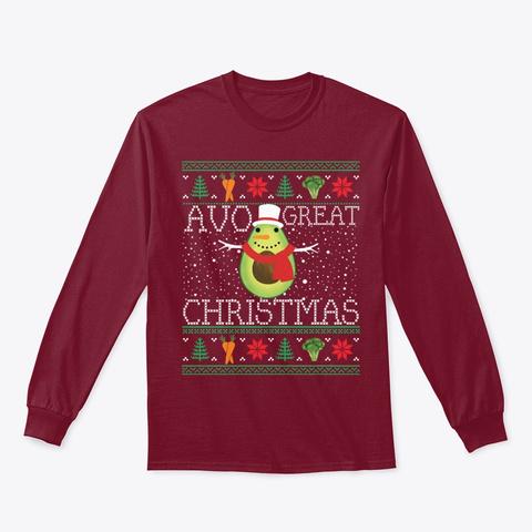 Avocado Vegetarian Ugly Christmas Xmas Cardinal Red Camiseta Front