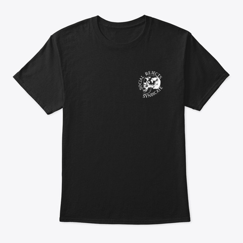 Social Rejects Syndicate Black T-Shirt Front