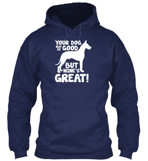 Greatest Dog Great Dane Navy T-Shirt Front