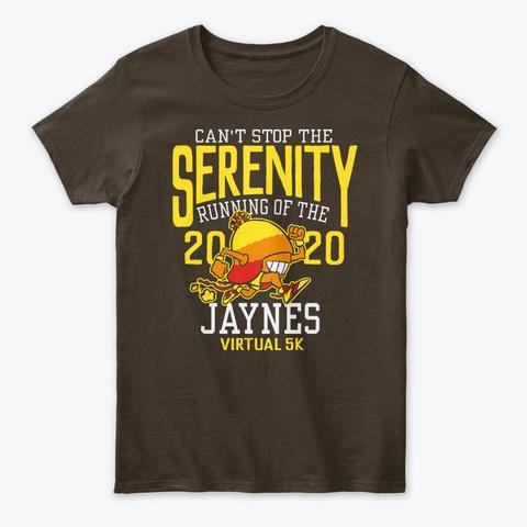 """""""Running Of The Jaynes"""" Womens Dark Chocolate T-Shirt Front"""