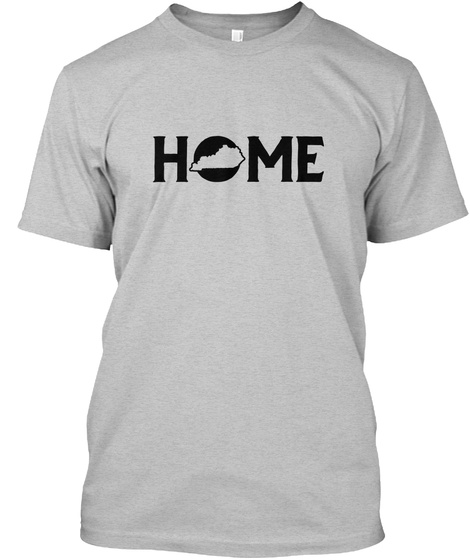 Home Light Heather Grey  T-Shirt Front