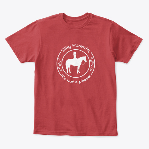 Silly Parents Classic Red T-Shirt Front