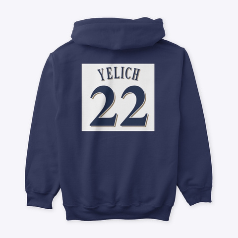 Yeli Love Navy Sweatshirt Back