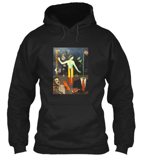 Phish Lipstick Lady Surreal Art Black T-Shirt Front