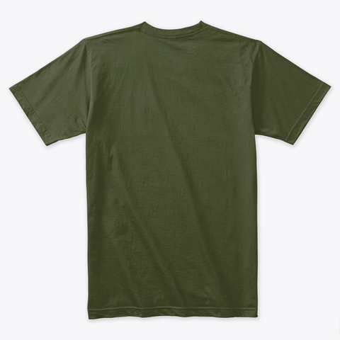 A Vgeek Military Green T-Shirt Back