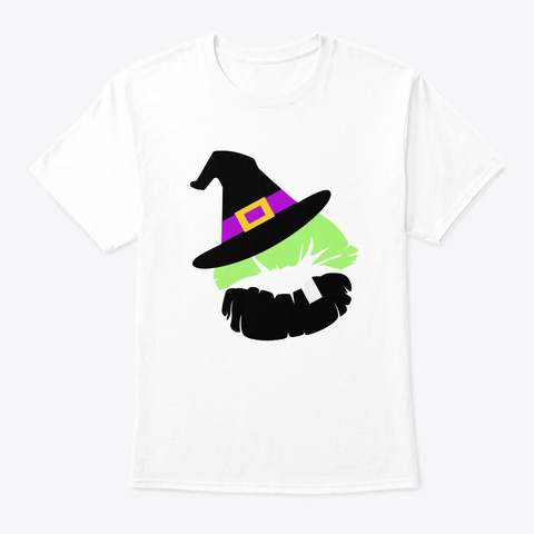 Witch Lips Halloween Costume White T-Shirt Front